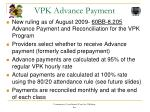 vpk advance payment