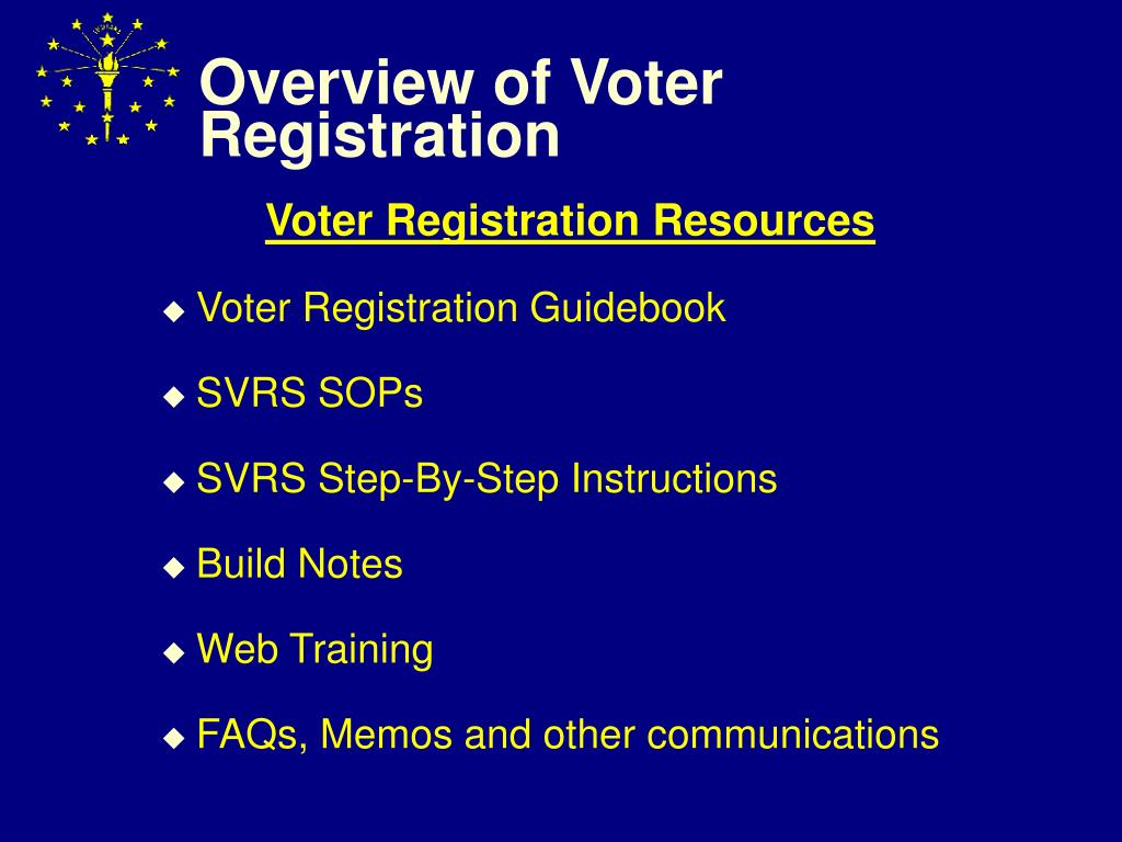 overview of voter registration l.