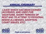 annual ordinary