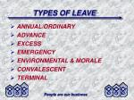 types of leave