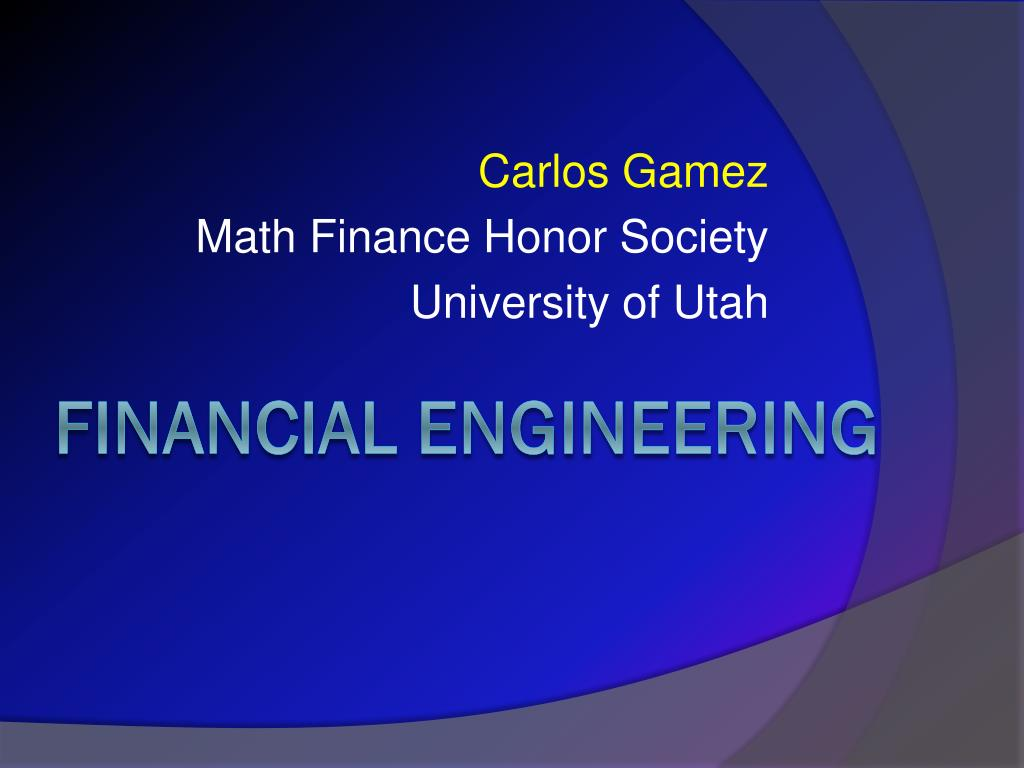carlos gamez math finance honor society university of utah l.