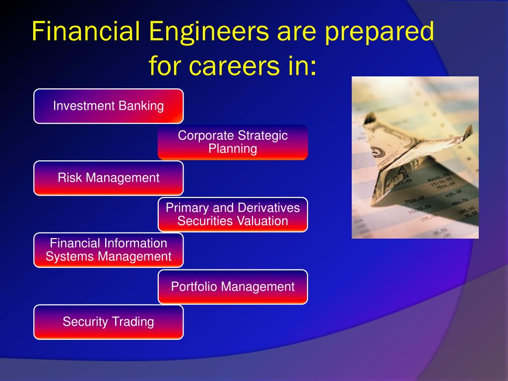 Financial Engineers are prepared for careers in:
