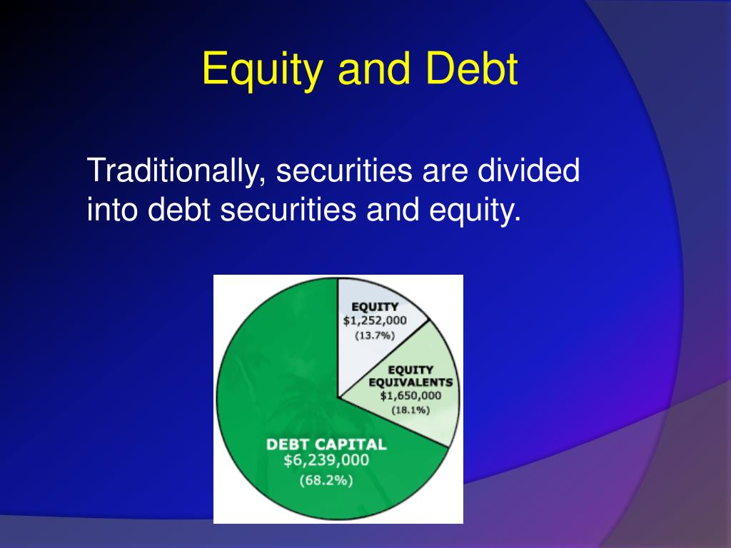Equity and Debt