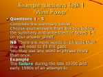 example questions task 1 wind power