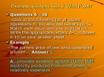 example questions task 2 wind power