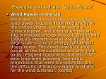 example text extract wind power