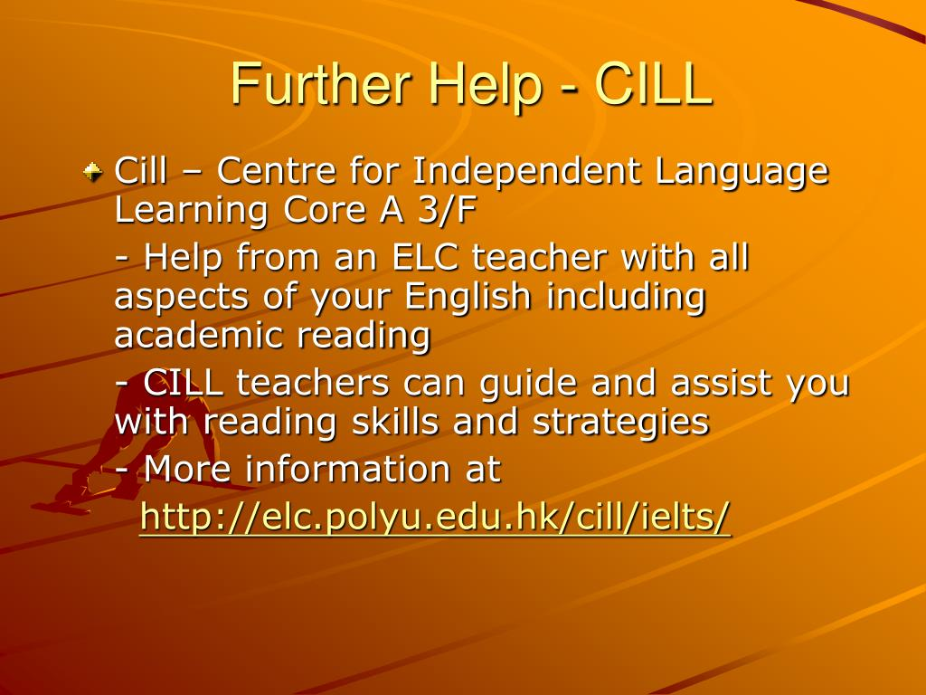 Further Help - CILL