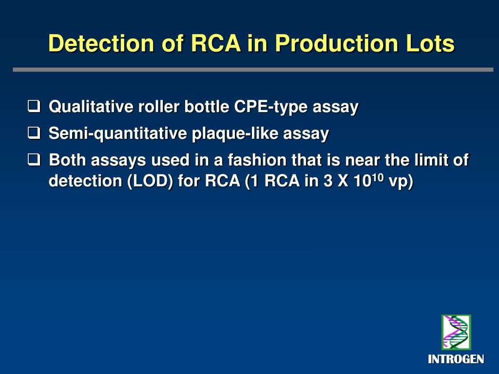 Detection of RCA in Production Lots