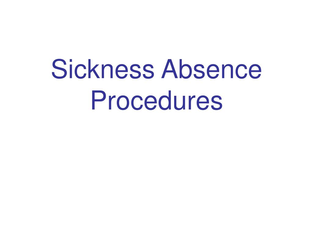 sickness absence procedures l.