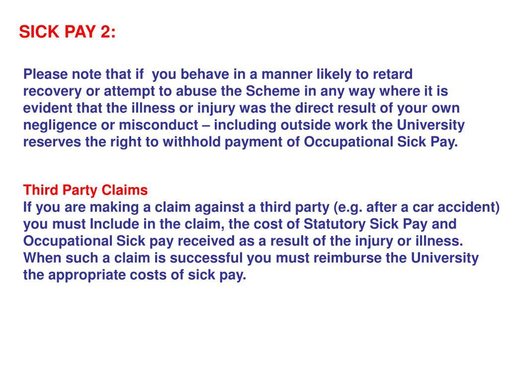 SICK PAY 2: