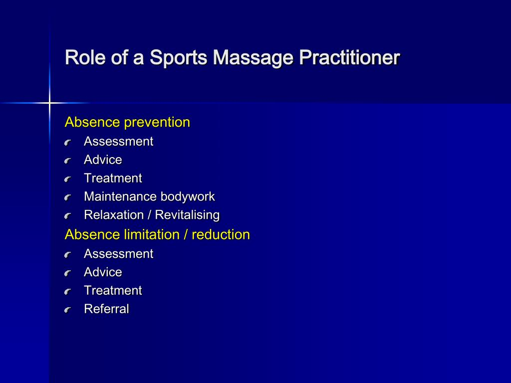 Role of a Sports Massage Practitioner