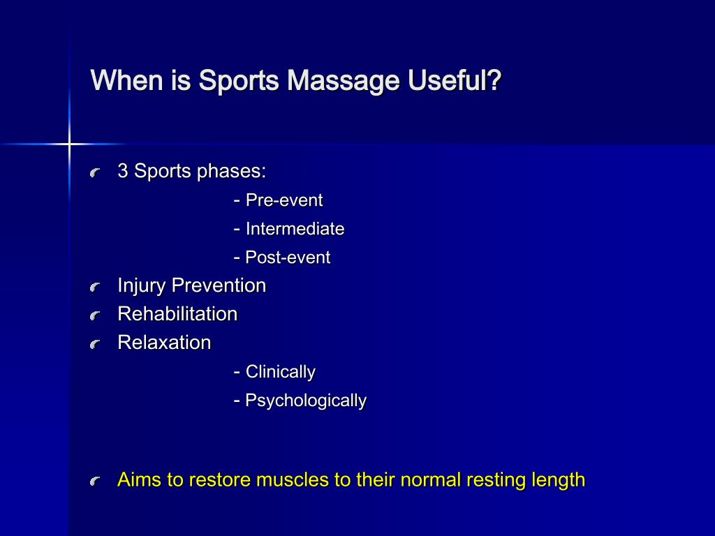 When is Sports Massage Useful?