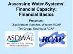 assessing water systems financial capacity financial basics