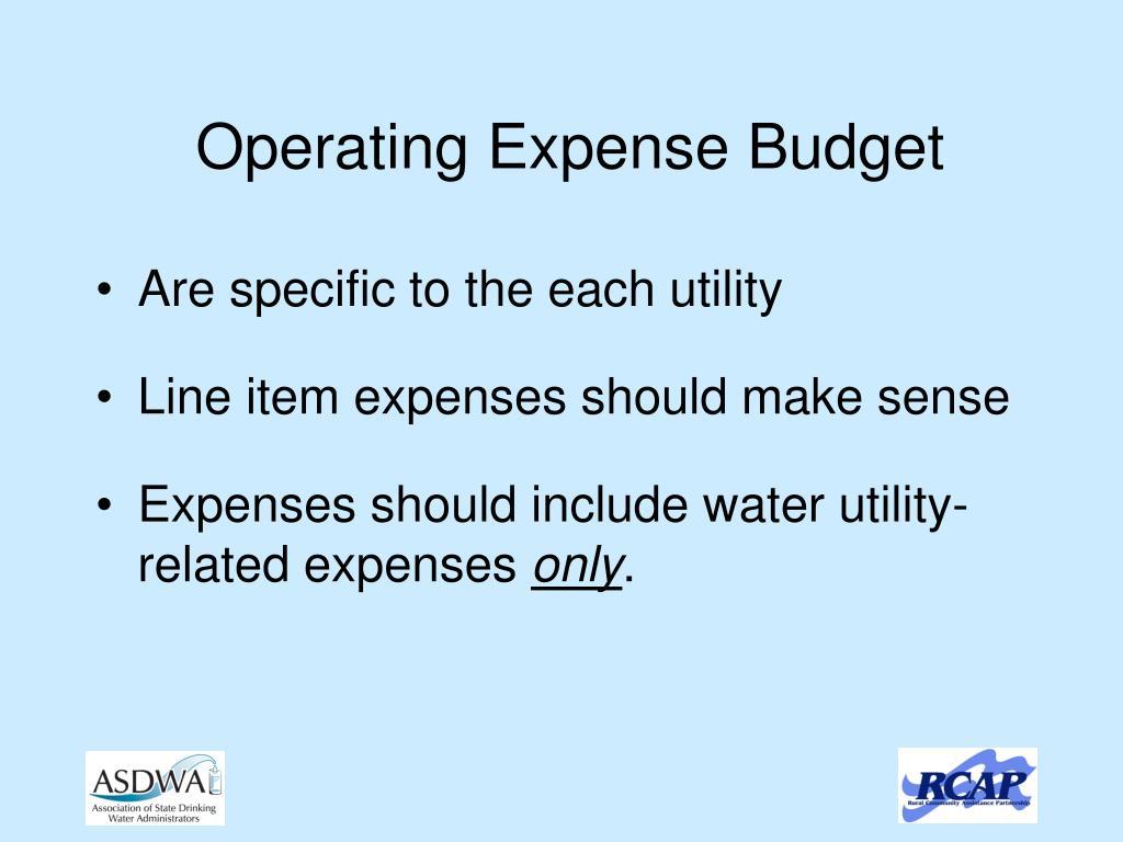 Operating Expense Budget