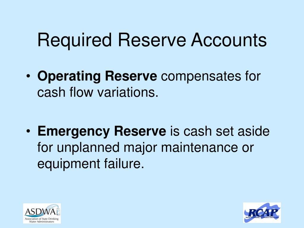 Required Reserve Accounts