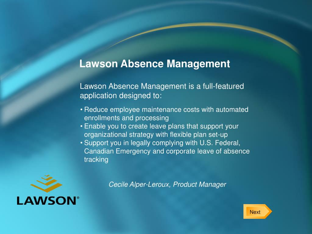 lawson absence management l.