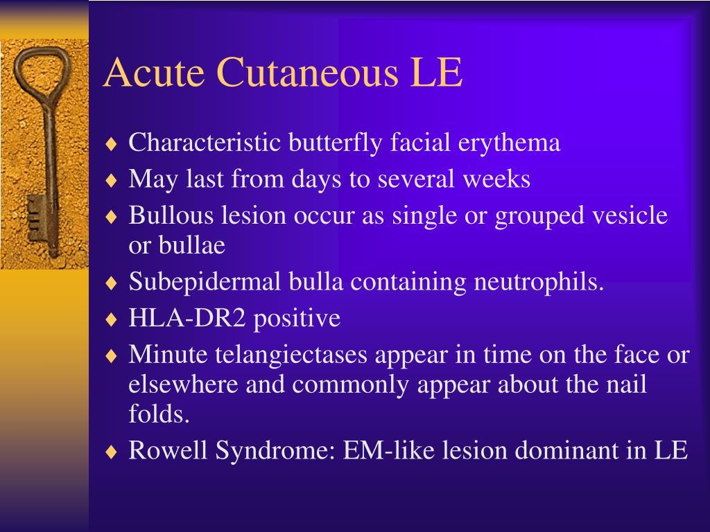 Acute Cutaneous LE