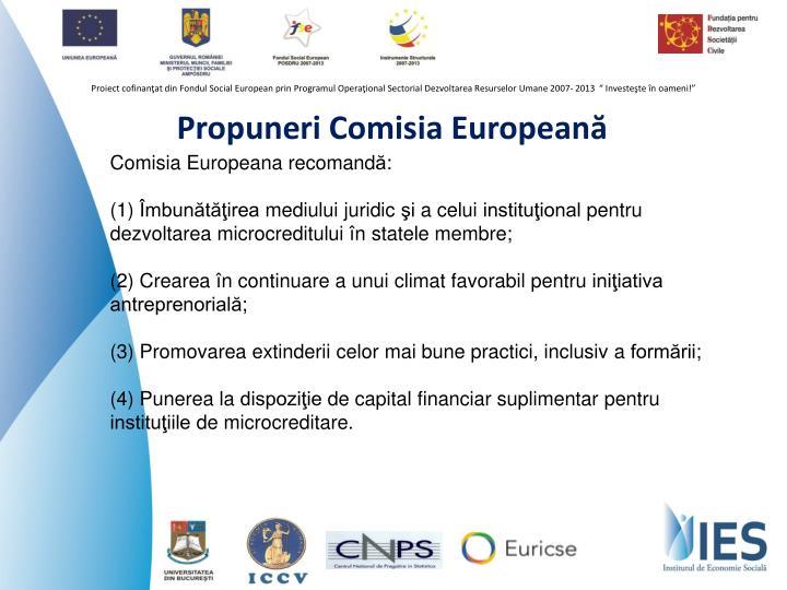 Propuneri Comisia Europeană