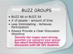 buzz groups