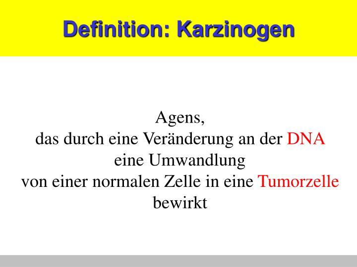Definition karzinogen