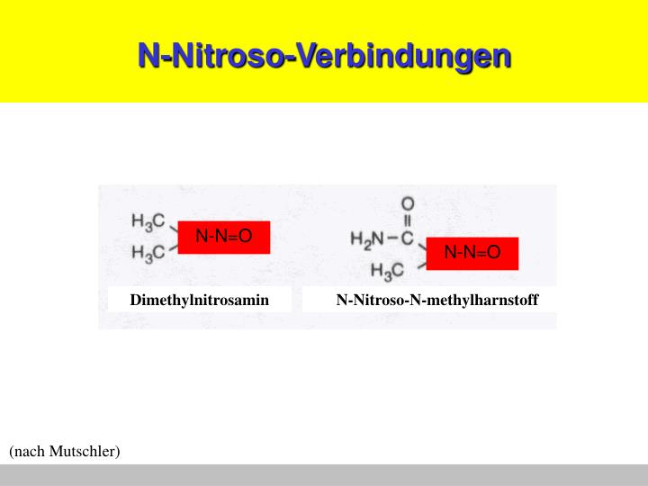 N-Nitroso-Verbindungen