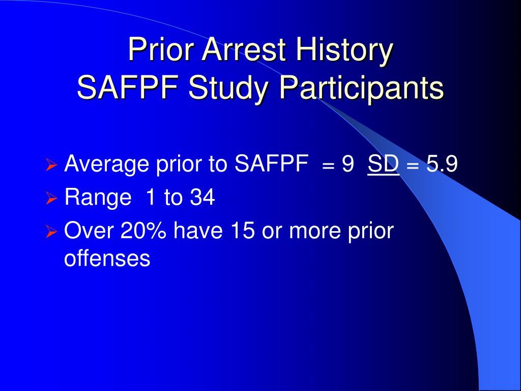 Prior Arrest History