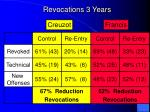 revocations 3 years