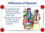 difference of squares18