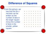 difference of squares24