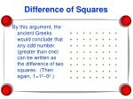 difference of squares25
