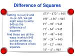 difference of squares69