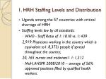 1 hrh staffing levels and distribution