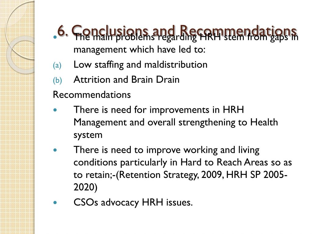6. Conclusions and Recommendations