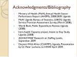 acknowledgments bibliography