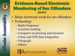 evidence based electronic monitoring of sex offenders cont4