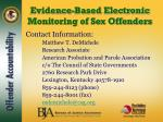 evidence based electronic monitoring of sex offenders