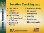 location tracking cont