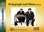 polygraph and more cont