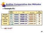an lise comparativa dos m todos13