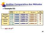 an lise comparativa dos m todos15