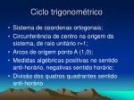 ciclo trigonom trico