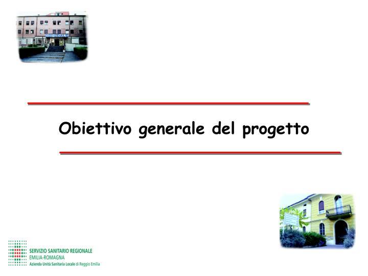 Obiettivo generale del progetto