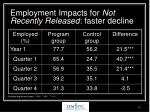employment impacts for not recently released faster decline