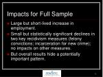 impacts for full sample