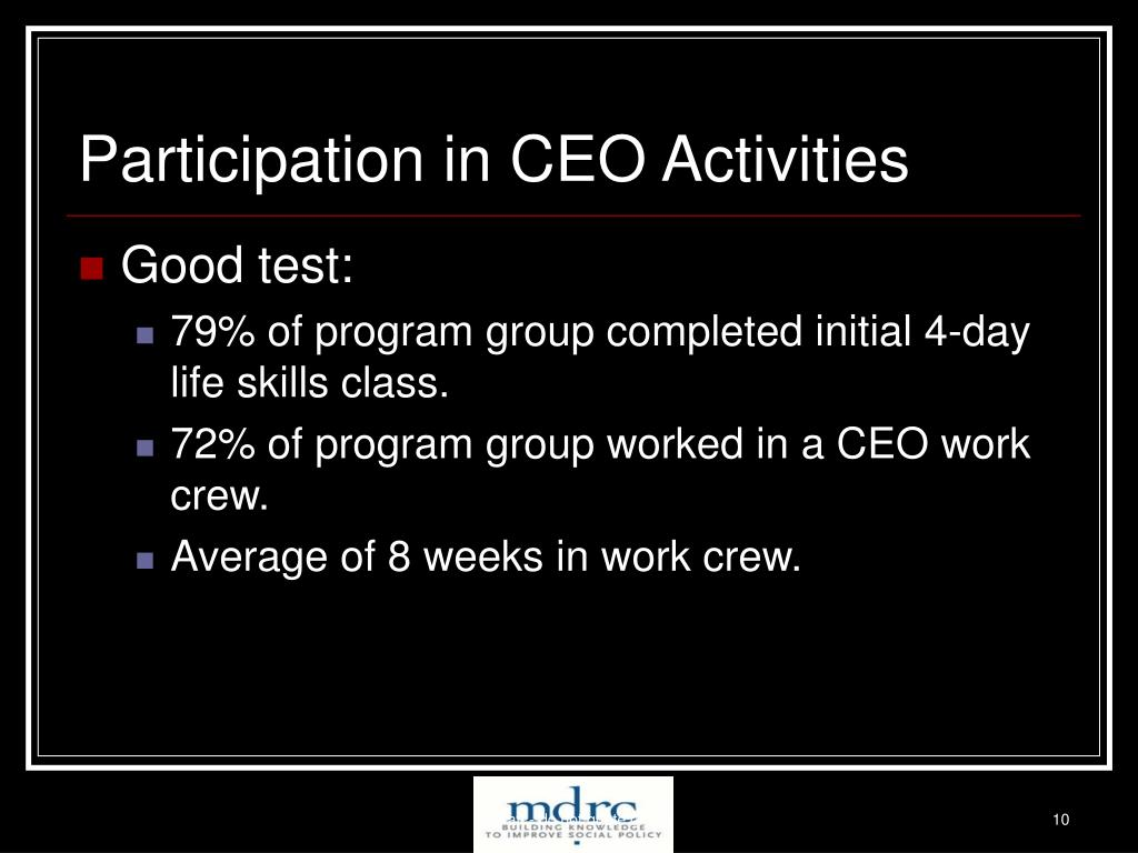 Participation in CEO Activities