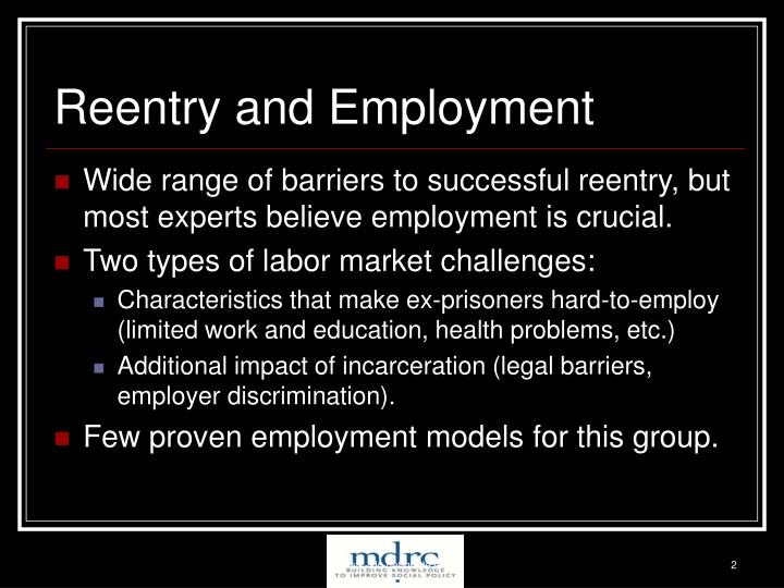 Reentry and employment
