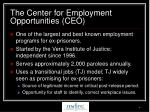 the center for employment opportunities ceo