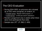 the ceo evaluation