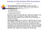 activities to help students with conventions adapted from 6 1 traits of writing ruth culham
