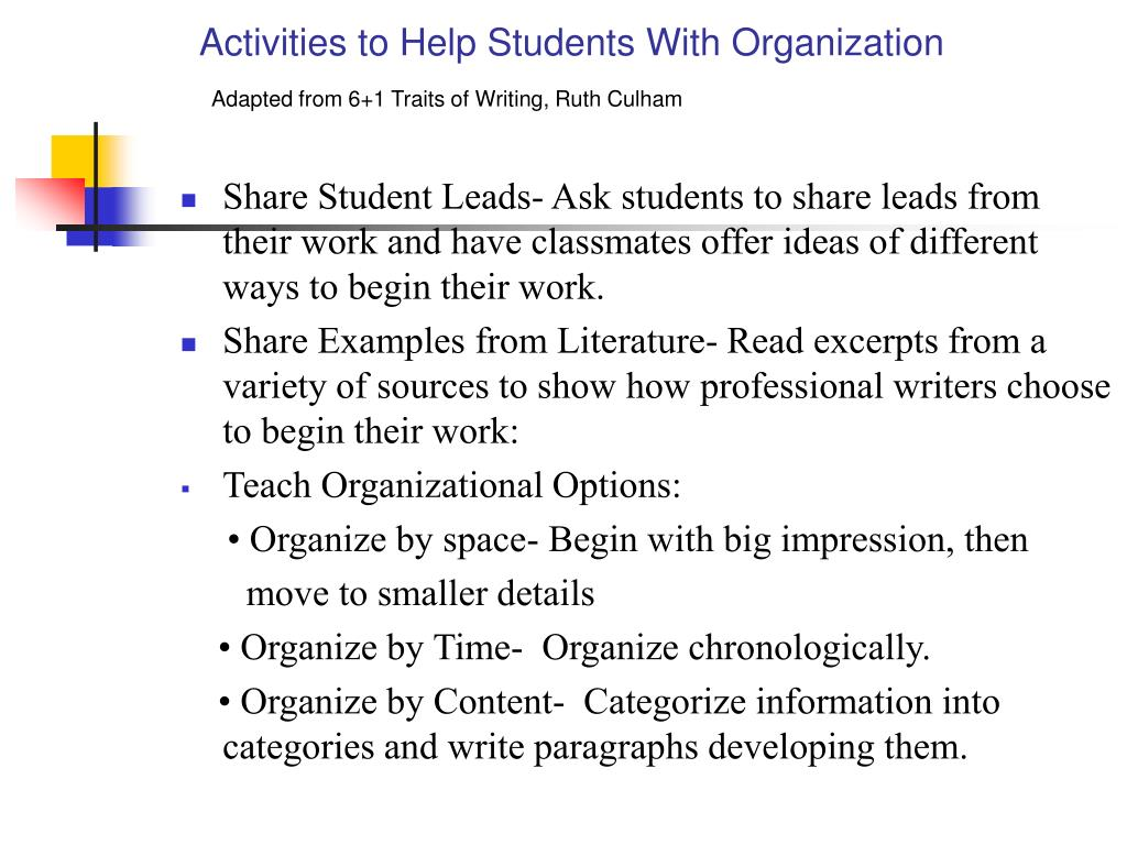 Activities to Help Students With Organization